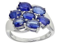 4.51ctw Oval Kyanite Sterling Silver Ring