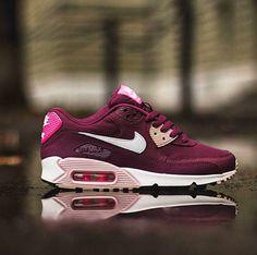 Nike airmax 90 wine/pink/white