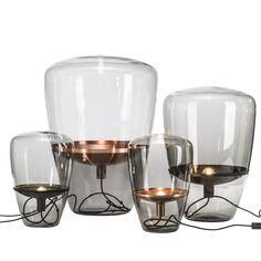 Balloons  MidCentury  Modern, Glass, Metal, Floor Lamp by Michael Dawkins Home
