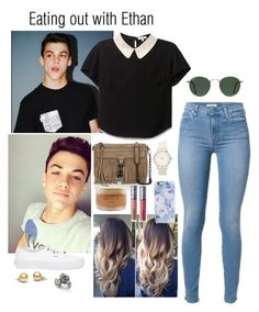 """""""Eating out with Ethan Dolan"""" by imagine-5sos-1d ❤ liked on Polyvore featuring moda, Dolan, Rebecca Minkoff, LORAC, Vans, Isaac Mizrahi, Ray-Ban, Natures Jewelry, Imagine5sos1d_Imagines y Imagine5sos1d_Sets"""