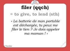 French Verbs, French Slang, French Grammar, French Phrases, French Quotes, French Language Lessons, French Language Learning, Learn A New Language, French Lessons