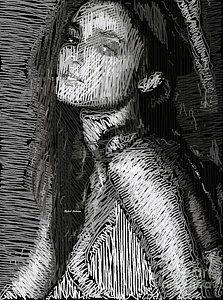 Digital Art - Studio Portrait In Pencil 39 by Rafael Salazar