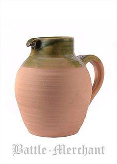 Int 25367821–Schank Pichet en argile 2L Vin Pichet style Moyen-Âge Viking: Historique de vin pichet/Schank cruche en argile, 2litres…