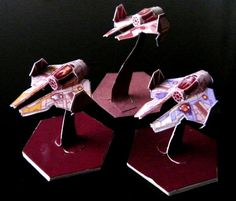 PAPERMAU: Star Wars - Jedi Interceptors Miniature Paper Models For Wargamesby Scarecrow