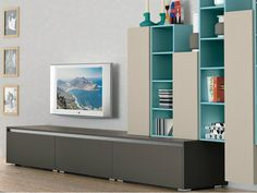 Sectional wall-mounted storage wall ANK LIVING Ank Collection by CREO Kitchens…