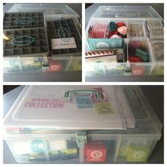 """My """"mobile"""" Jewelry Bar for Origami Owl. Just about everything I need is contained in this one box. It is a 'Medium Organizer' from Close To My Heart (sheila.ctmh.com) and is intended for stamping/scrapbooking/crafting supplies. It is absolutely PERFECT for organizing my O2 stuff"""