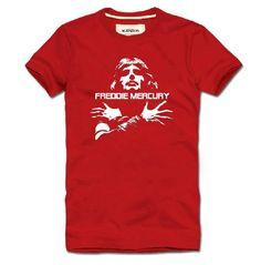 Rock Band Queen Freddie Mercury logo t shirt - Tshirtsky