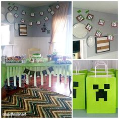 #Minecraft party plus tips on how to survive your kid's slumber party! via Chase the Star