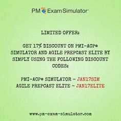 Are you ready to take the PMI-ACP exam? Get 17% off on the PMI-ACP Exam Simulator and Agile PrepCast Elite #agile #projectmanagement