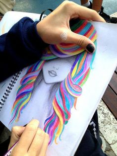 Rainbow Hair #colorful