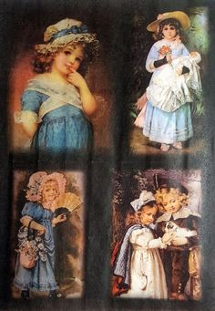 Rice Paper for Decoupage Scrapbooking Sheet Craft Vintage Girls Pictures