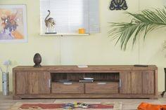 Dlouhý TV stolek z masivu Priemer