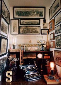Vintage writing alcove
