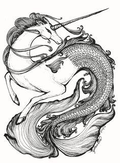 Mer-Unicorn by ~feanne on deviantART