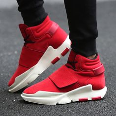 a654608824e9 Men's Casual Sport Breathable High Tops Hook Shoe Mens Lace-Up Shoes For  Men Flats Ankle Boots Chaussures Homme Calzado Hombre