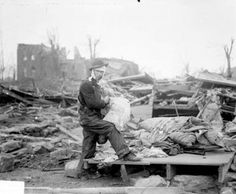 Adlai Stevenson II witness to 1925 tornado devastation : The Tri-State Tornado of March 18, 1925, laid waste to several Southern Illinois communities, including Murphysboro. (Courtesy of Chicago History Museum, Chicago Daily News negatives collection) PFOP
