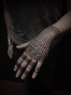 Would never do a hand tattoo myself but this was neat. Love the patterns.