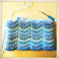 Land and Sea tunisian stitch