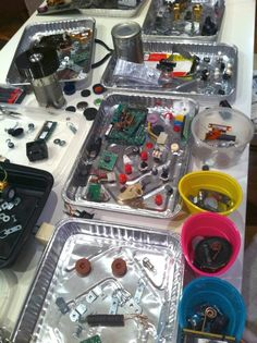 Tin Can Magnetic Robots... allow children to create (& re-create) robots from recycled parts