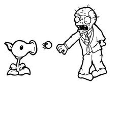 Plants vs Zombies Free Coloring Pages