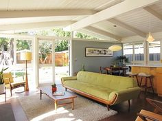 Wonderfully warm and inviting mid-century home: Long Beach House by Josh and Jen Amstone