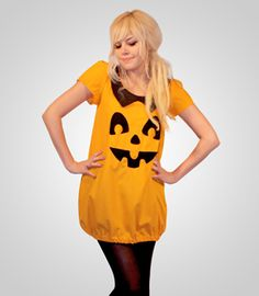 jack-o-lantern dress! the cutest adult pumpkin costume iu0027ve ever seen!  sc 1 st  Pinterest & Easy Halloween Pumpkin Costume Sewing Project - Sew Whatu0027s New ...