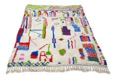 9'X6' ft / Handmade Moroccan rug Beni Ourain 100 Wool / Azilal Rug / Boucherouite Rug / Beni Ouarain / Moroccan Kilim