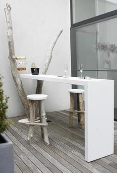 terrasse cuisine ouverte bar en bois table de bar kitchen bar bar stool terrace