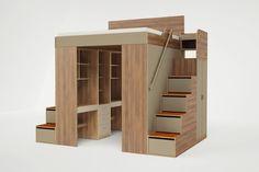 春から新生活を始め、少しでもスペースを有効活用したい!と考えている人も多いのではないでしょうか。 そんな人の力強い味方となってくれそうなのが、こちらの家具です! ・クローゼットやドレッサーがついたロフトベッド NYのブルックリンで活動するデザイン集団、Casa Collectionがデザインしたこちらの収納付