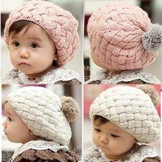 حار بيع 1 قطعة 2016 جديد الخريف الشتاء الطفل قبعة بونيه نمط طفل الكروشيه الرضع جميلة أغطية الرأس
