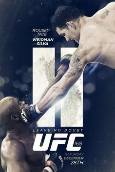UFC 168 poster. Combat sports graphics