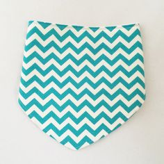 Drool Bib in Teal Chevron by CHWHcrafts on Etsy