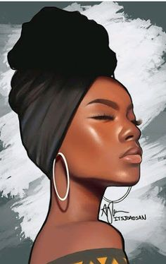 Black Love Art, Black Girl Art, Black Girl Magic, Art Girl, Black Art Painting, Black Artwork, Afrika Tattoos, Drawings Of Black Girls, Afrique Art