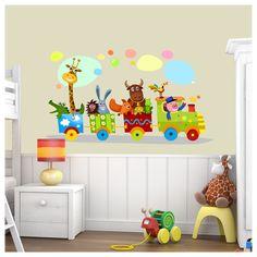Αυτοκόλλητα τοίχου παιδικά Χαρούμενο τρένο, με τρένο και ζωάκια Baby, Kids, Crafts, Craft Ideas, Young Children, Boys, Manualidades, Children, Baby Humor