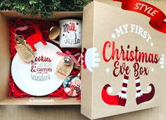 Personalised Gift Boxes with a big WOW Factor! Teenage Girl Gifts Christmas, Christmas Gifts For Friends, Xmas Gifts, Kids Christmas, Christmas Presents, Christmas Crafts, Christmas Decorations, Cheap Christmas, Christmas Eve Box Ideas Kids