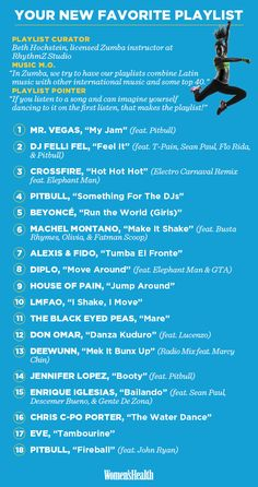A Zumba-Inspired Playlist That's Perfect for Your Next Cardio Workout | Women's Health Magazine