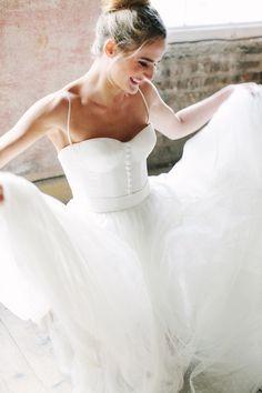 Wedding Dress | Romantic Wedding Photoshoot from Katie Stoops on Style Me Pretty: http://www.StyleMePretty.com/destination-weddings/2014/03/17/romantic-irish-wedding-inspiration/