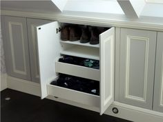 Panelled cupboards for eaves storage
