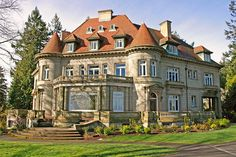 The French Renaissance–style Pittock Mansion in Portland, Oregon, was built as a private home for The Oregonian publisher Henry Pittock and his wife, Georgiana, who was active in community organizations dedicated to helping women and children. The couple died within five years of moving into the house in 1914; it was opened to the public in 1965. pittockmansion.org