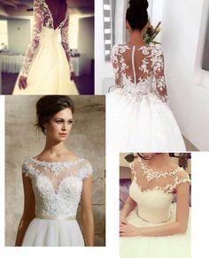 Koronkowe suknie ślubne, piękne wykończenia!