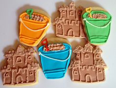 Sandcastle and Shovel and Pail Sugar Cookies are Sandy Sweets - Foodista.com