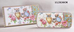 Dessertteller Eule mit Geschenkbox Teller Eulenmotiv Sunglasses Case, Bags, Atelier, China China, Anniversary, Packaging, Birthday, Handbags, Taschen