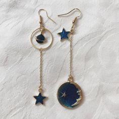 Will bundle – Depop Celestial planet, moon, star dangle earring. Will bundle – Depop Ear Jewelry, Cute Jewelry, Gold Jewelry, Jewelry Accessories, Turquoise Jewelry, Hippie Jewelry, Jewelry Making, Jewlery, Bullet Jewelry
