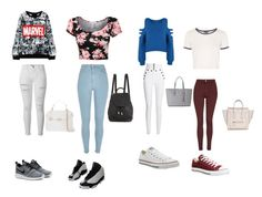 """""""Untitled #24"""" by takiah-kentish on Polyvore featuring WearAll, Topshop, Isabel Marant, River Island, Converse, NIKE, Frame Denim, Versace, rag & bone and Michael Kors"""