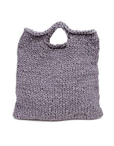 Knitted bag: Zigazig Shopper // Wool and the Gang. For the rainbow yarn Knitting Kits, Easy Knitting, Knitting Projects, Knitting Patterns, Laptop Tote Bag, Laptop Handbags, Tote Bags, Cotton Cord, Knitted Bags