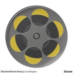 Film Reel Movies Party Dinner Plate