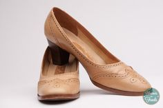 1970s Tan Pappagallo Pumps from BloomersAndFrocks on Etsy, $34.00