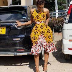Latest Ankara Short Gown New Fashion Trending for Next Event.Latest Ankara Short Gown New Fashion Trending for Next Event Latest African Fashion Dresses, African Print Dresses, African Dresses For Women, African Print Fashion, African Attire, African Wear, African Prints, Ankara Fashion, Africa Fashion