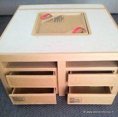Nouveau patron de meuble en carton : la table basse Hoxane - Créer ses meubles en carton
