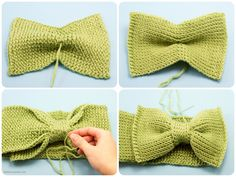 free patterns for croched head bands | Sweetie Pie Bow Headband Crochet Pattern